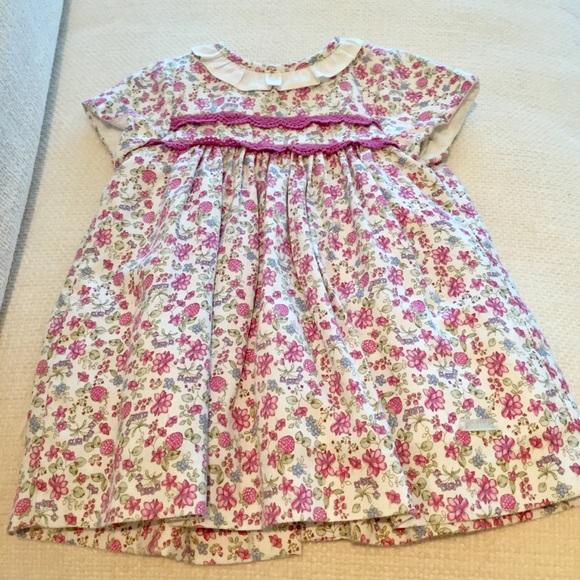 3c17984b8b1 MAYORAL BABY GIRL SHORT SLEEVED DRESS WITH FLOWERS